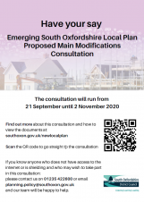 Emerging South Oxfordshire Local Plan – Consultation on Proposed Main Modifications - Starting Monday 21st September